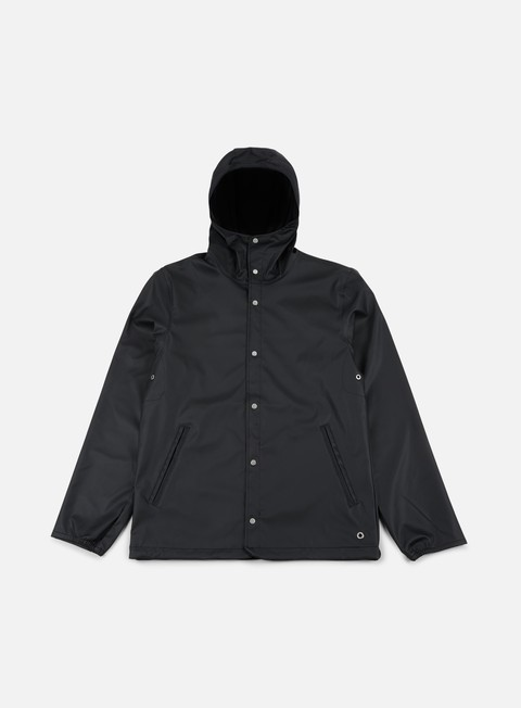 giacche herschel forecast hooded coaches jacket black