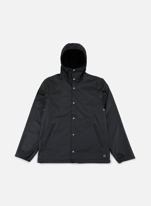 Herschel - Forecast Hooded Coaches Jacket, Black