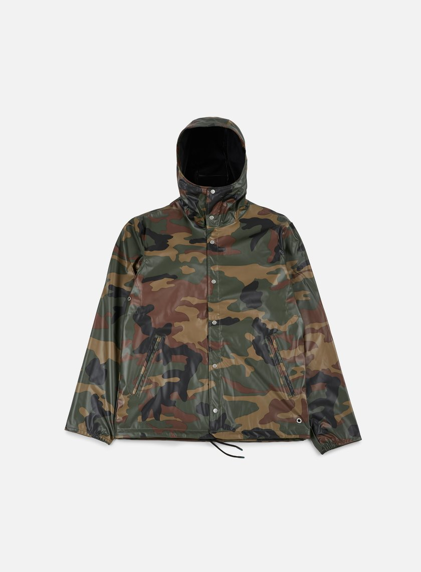 Herschel - Forecast Hooded Coaches Jacket, Woodland Camo