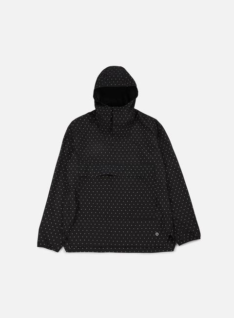 giacche herschel voyage anorak jacket black gridlock