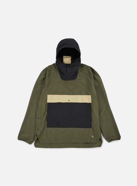 giacche herschel voyage anorak jacket forest black