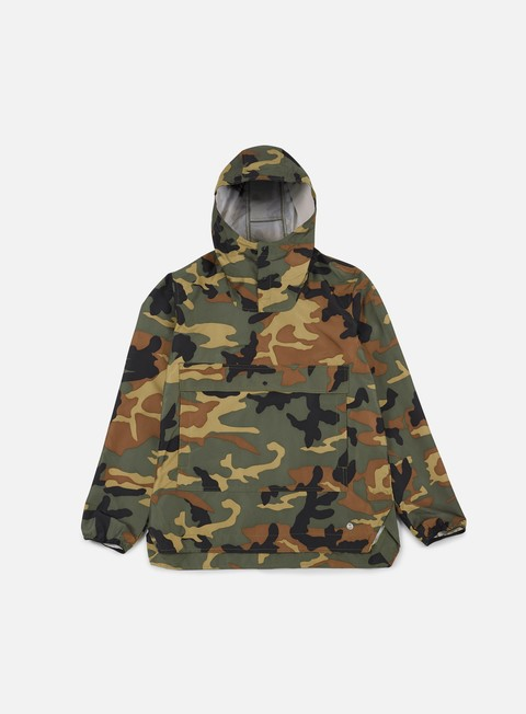 giacche herschel voyage anorak jacket woodland camo
