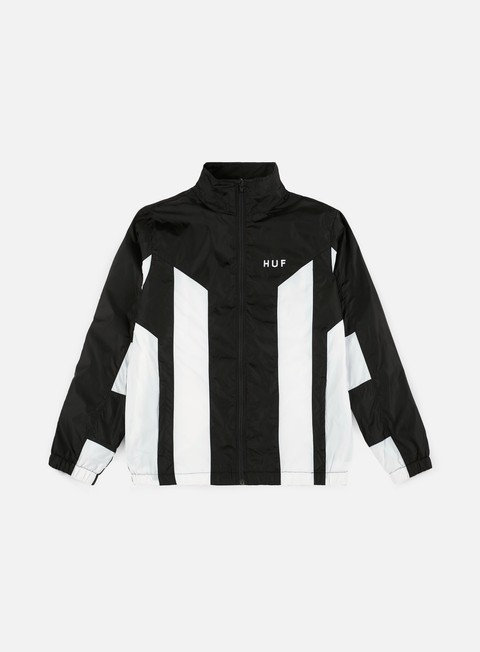 giacche huf arena track jacket black