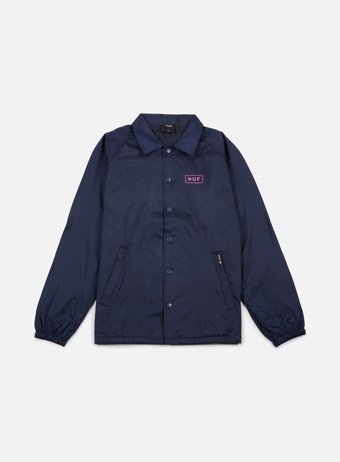 giacche huf bar logo choaches jacket navy
