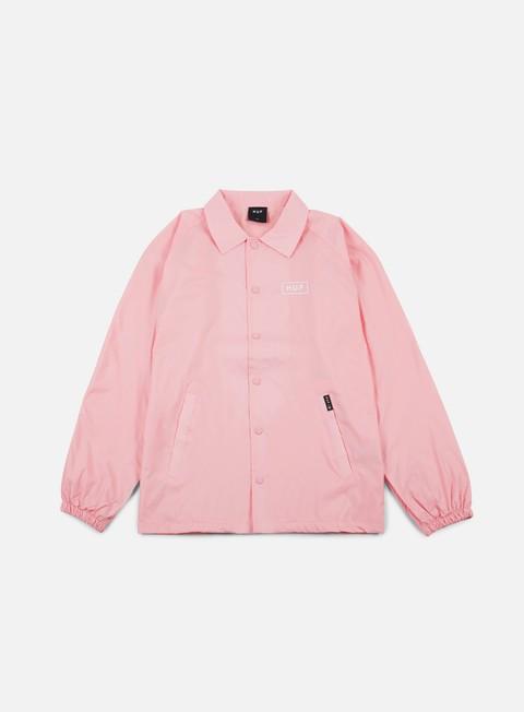 giacche huf bar logo choaches jacket pink