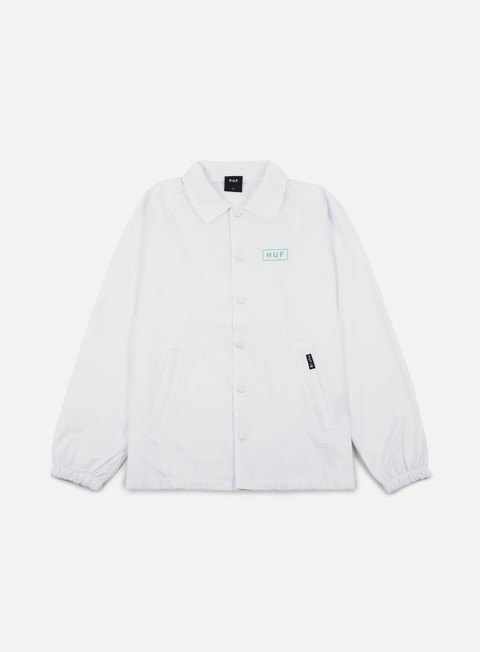 giacche huf bar logo choaches jacket white