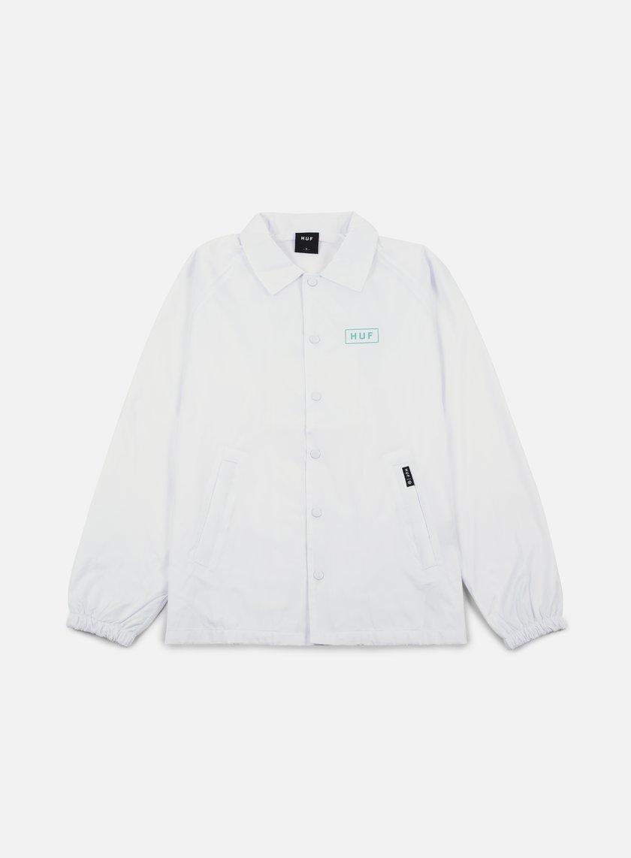 Huf - Bar Logo Choaches Jacket, White