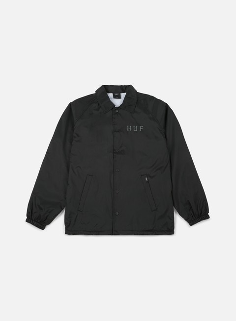 giacche huf classic h coaches jacket black