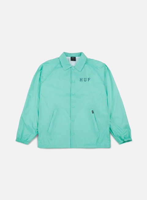giacche huf classic h coaches jacket celadon