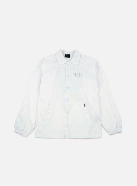 giacche huf classic h coaches jacket white