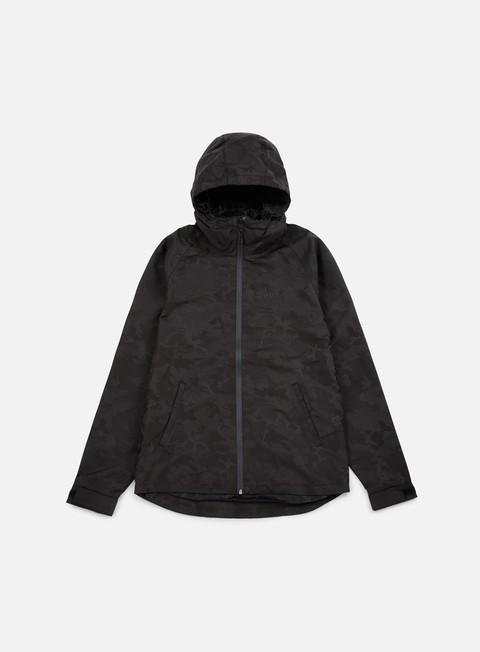giacche huf classic shell camo jacket black