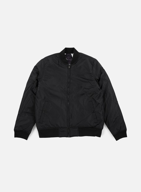 giacche huf cleon reversible bomber jacket black