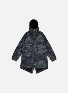Huf - Cloak Parka Jacket, Woodland Camo 1