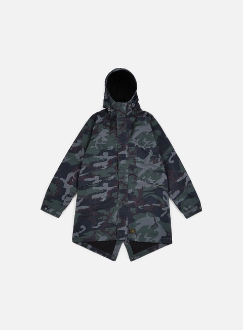 Outlet e Saldi Giacche Intermedie Huf Cloak Parka Jacket