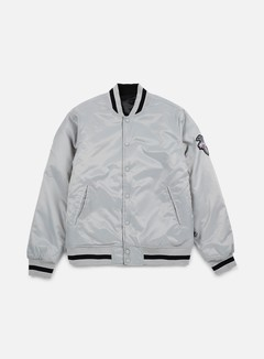 Huf - Easy Reversible Satin Jacket, Silver 1