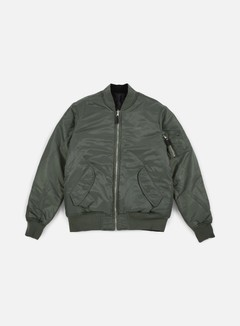 Huf - Elite Reversible MA-1 Jacket, Olive Drab/Black 1