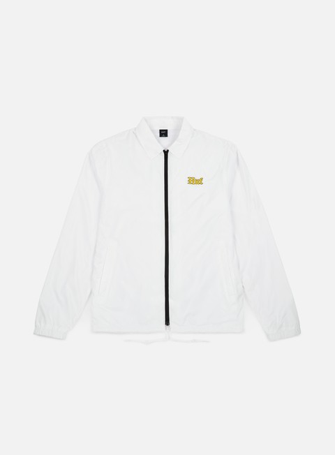 giacche huf ensenada coach jacket white