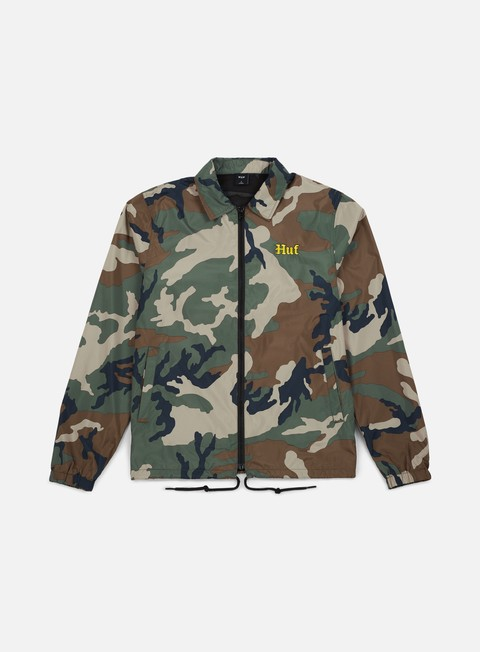 giacche huf ensenada coach jacket woodland camo