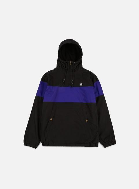 giacche huf explorer 1 anorak jacket black
