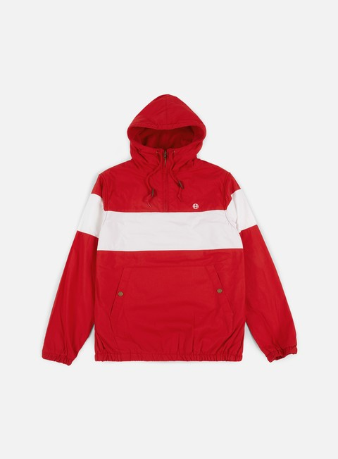 giacche huf explorer 1 anorak jacket red