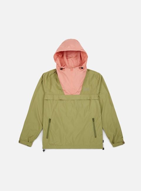 giacche huf explorer anorak jacket drab olive