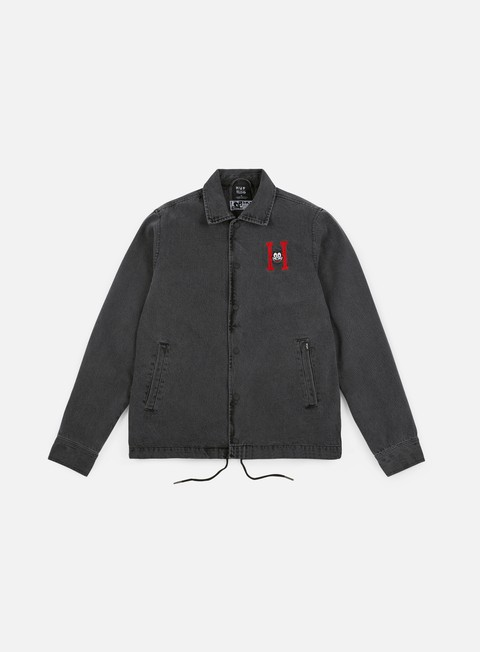 giacche huf felix denim coaches jacket black