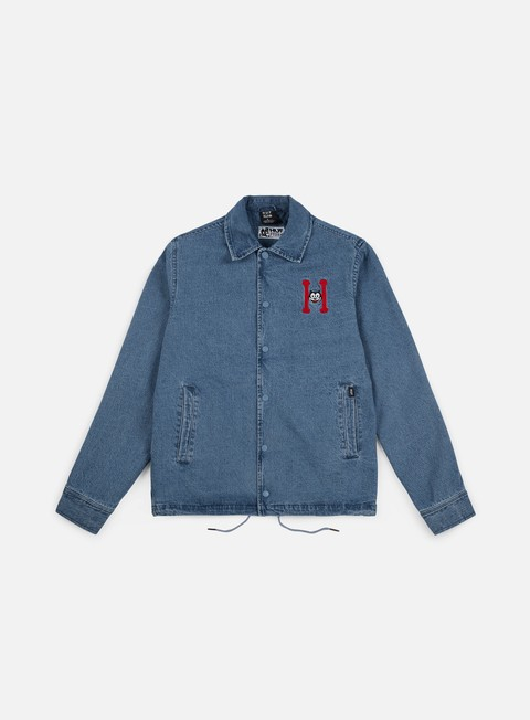 giacche huf felix denim coaches jacket blue