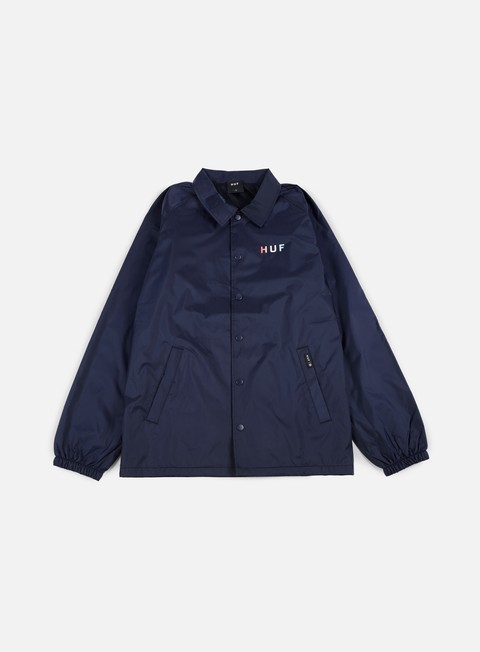 giacche huf gradient og coach jacket navy