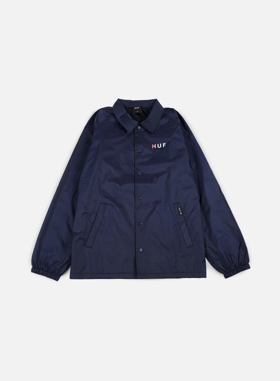 Huf - Gradient OG Coach Jacket, Navy