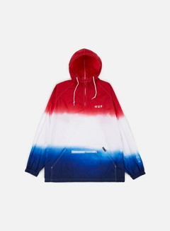 Huf - Huf Gradient Wash Anorak Jacket, Red 1
