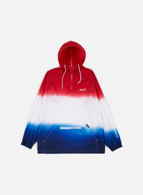 giacche huf huf gradient wash anorak jacket red