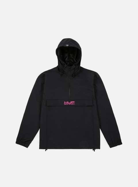 giacche huf huf x sorayama ankorak jacket black