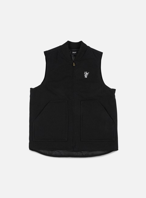 giacche huf kilo whiskey vest black