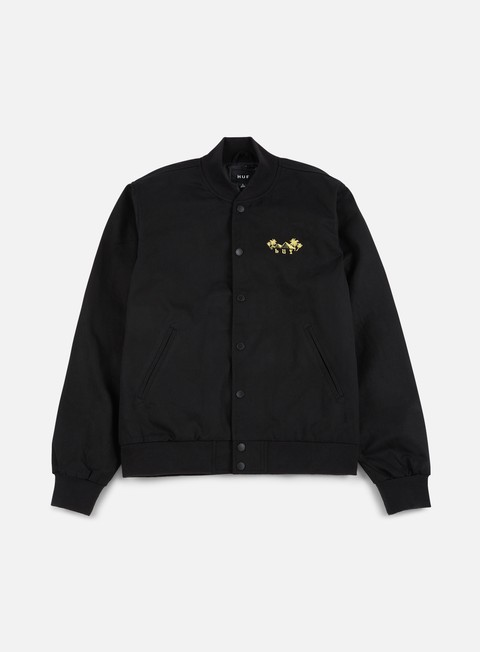 giacche huf kingston jacket black