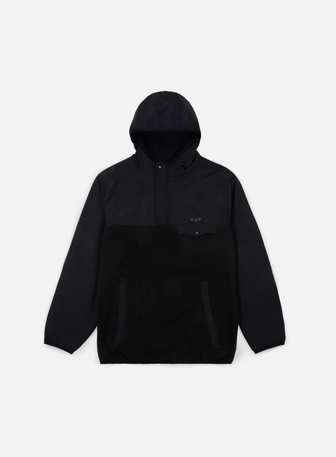 giacche huf muir hooded jacket black