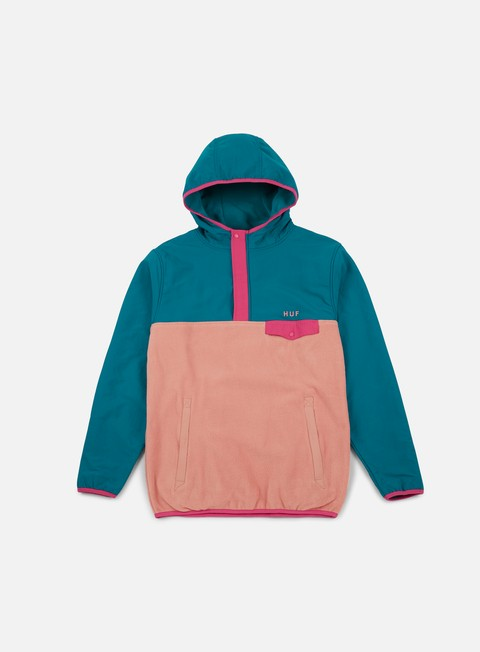 giacche huf muir hooded jacket dark teal