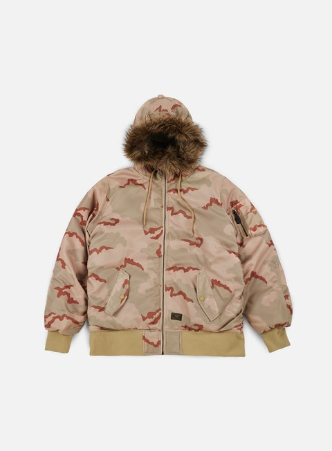 giacche huf n2b reversible jacket desert camo