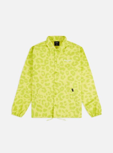 Giacche Leggere Huf Neo Leopard Coach Jacket