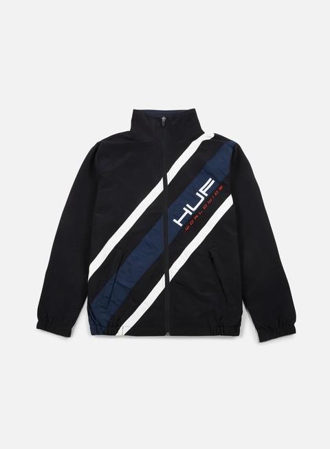 giacche huf palisades track jacket black