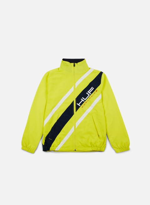 giacche huf palisades track jacket yellow