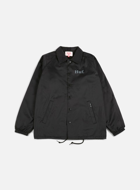 giacche huf pink panther coach jacket black
