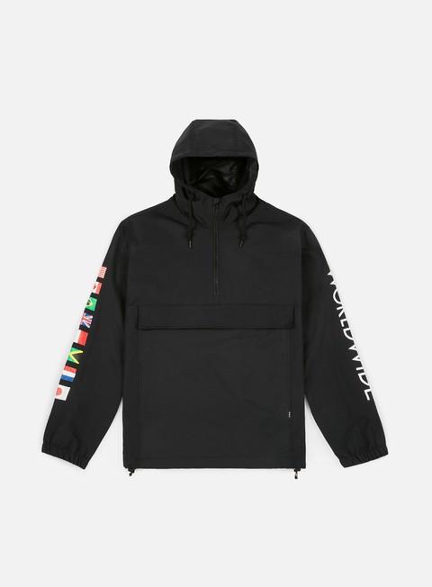 giacche huf regional tour anorak jacket black
