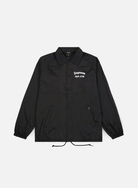 giacche huf sayonara coaches jacket black