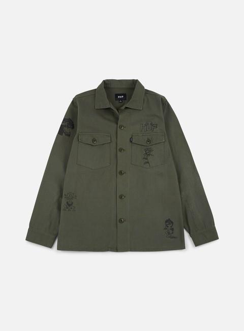 giacche huf scrawl bdu jacket olive drab