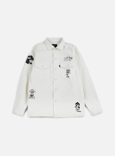 giacche huf scrawl bdu jacket white
