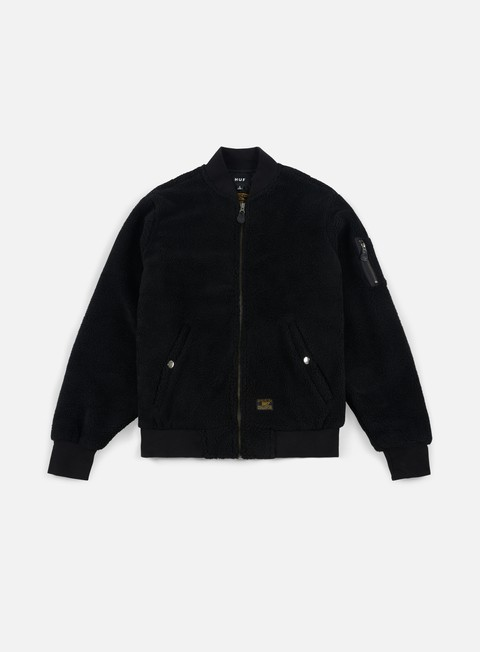 giacche huf sherpa bomber jacket black
