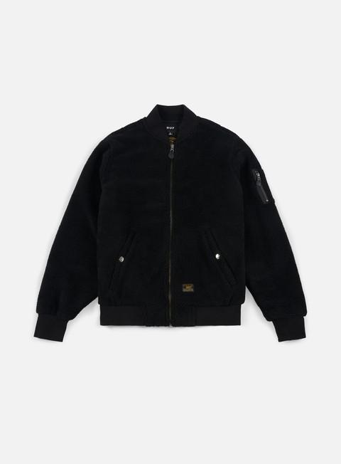 giacche huf sherpa bomber jacket black