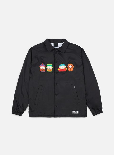 giacche huf south park kids coaches jacket black
