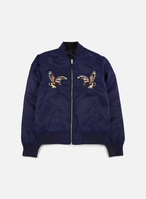 giacche huf souvenir ma 1 jacket navy