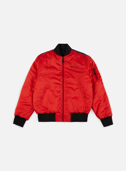 giacche huf space race ma 1 jacket red